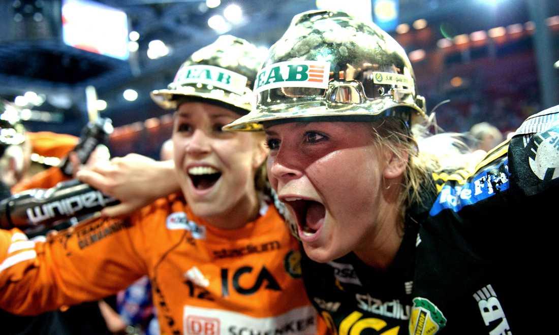 Efter finalseger mot Eslöv blev det ännu ett SM-guld för Sävehof 2011.
