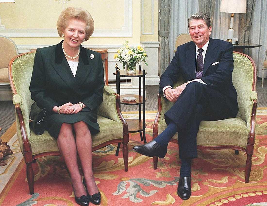 Den riktiga Thatcher, tillsammans med USA:s dåvarande president Ronald Reagan.