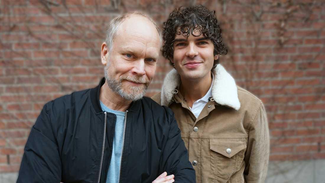 Kristian Luuk och Daniel Hallberg gör en pratshow ihop för SVT nästa höst. Pressbild.
