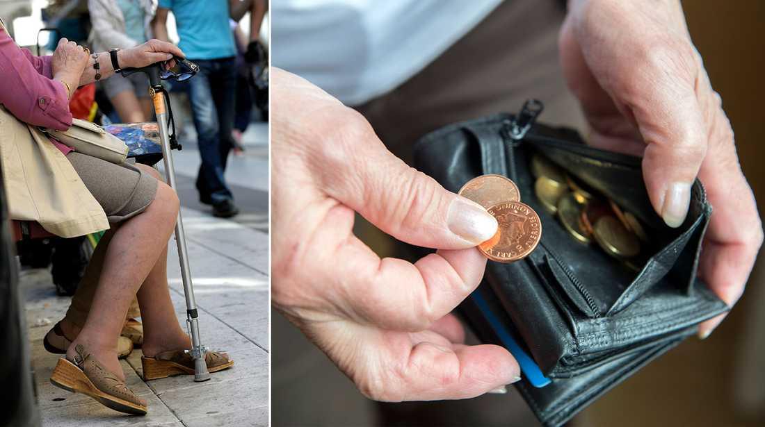 Antalet fattigpensionärer i Sverige ökar.