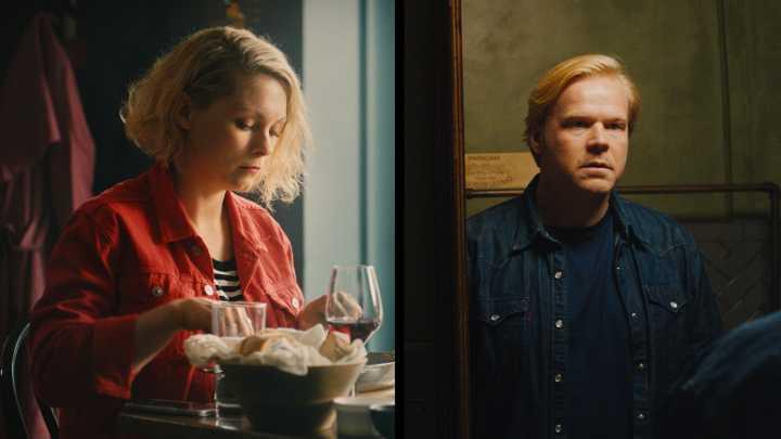 """MyAnna Buring och Anders Baasmo Christiansen i """"En natt""""."""