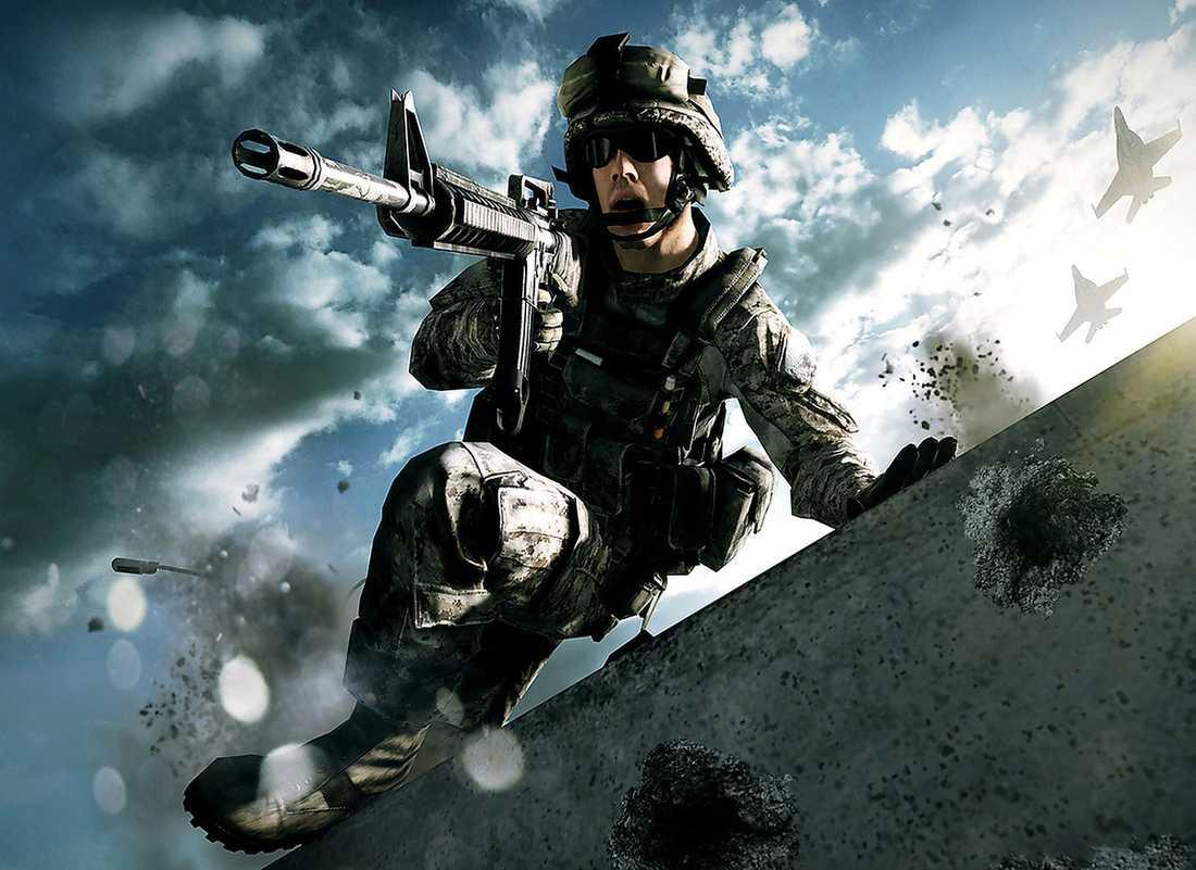"""Drömfångare? Resultatet av en ny studie tyder på att soldater som spelar spel får lindrigare mardrömmar. På bilden: """"Battlefield 3""""."""