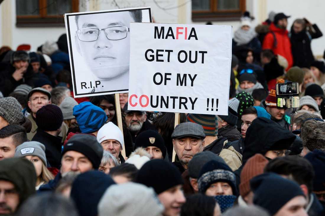 Demonstration till Kuciaks minne