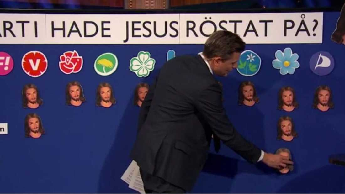 Jesus skulle ha rösta på SD, menade Fredrik.