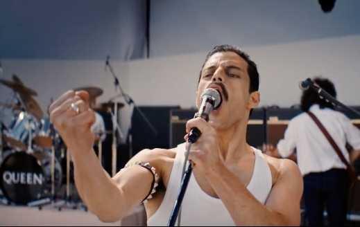 "Rami Malek som Freddie Mercury i ""Bohemian rhapsody""."
