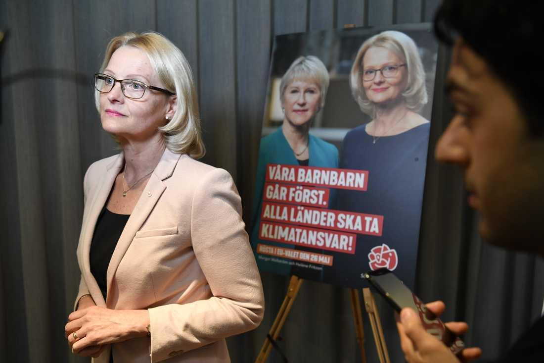 Heléne Fritzon är Socialdemokraternas toppkandidat i valet till EU-parlamentet.