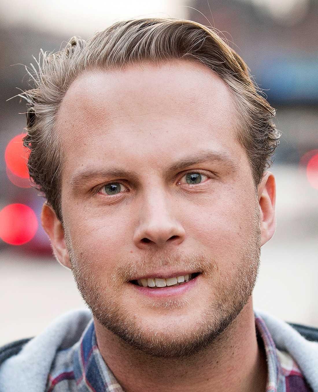 Rasmus Törnblom, tidigare Muf-ordförande.