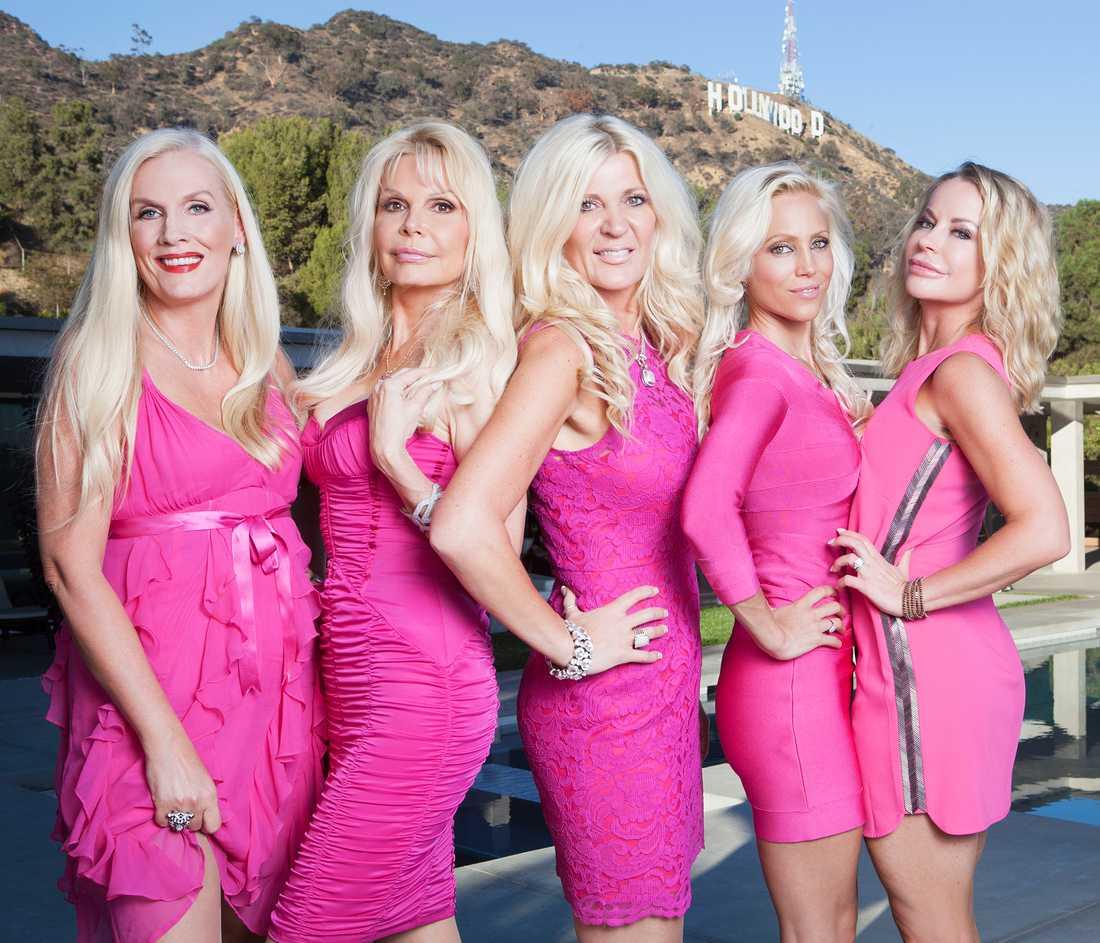 Hollywoodfruar i säsong åtta: Maria Montazami, Gunilla Persson, Agnes-Nicole Winter, Åsa Vesterlund, Caroline Grane.