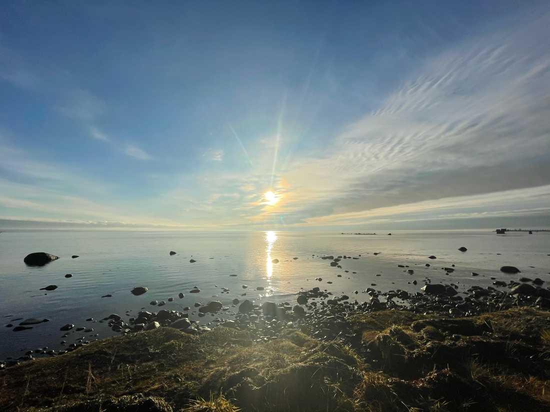 Solen tittade fram i Kalmar.