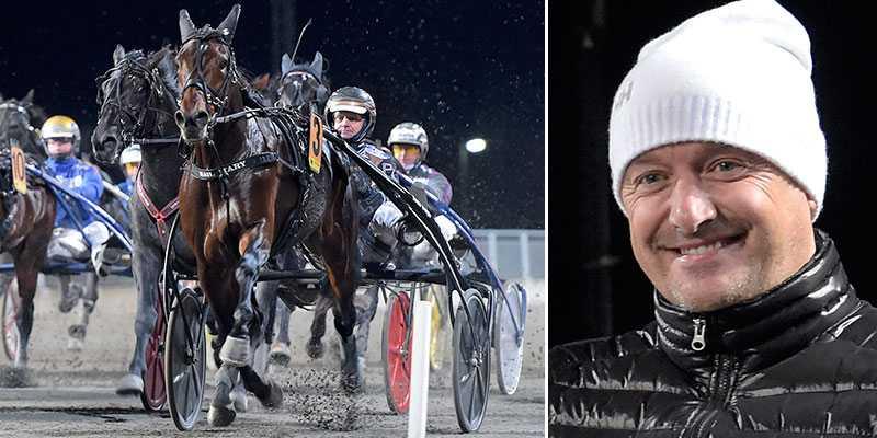 Hail Mary och Robert Bergh vid segern av Breeders Crown-finalen i Eskilstuna under söndagen.