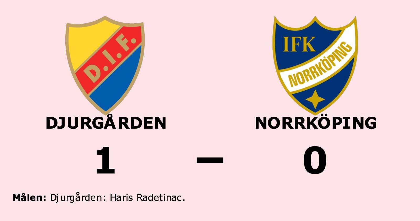 Norrköping föll i jämn match mot Djurgården