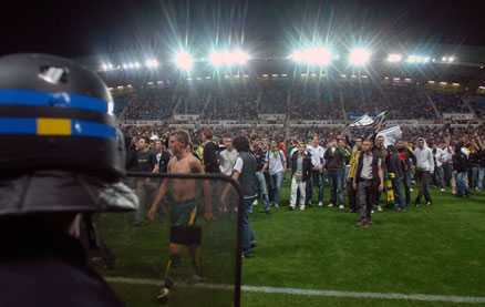 Nantes fans stormade planen | Aftonbladet