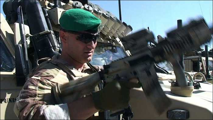 Major Kristian Simonsen i Meymaneh är kompanichef för MEK 4 i Afghanistan.