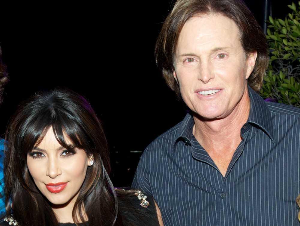Kim Kardashian och Caitlyn Jenner – som då hette Bruce.