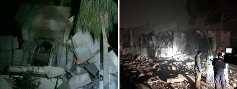 Nato svarade med en attack direkt mot Gaddafis kontor i Tripoli.