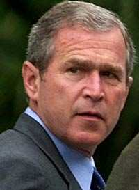 USA:s president George W Bush.