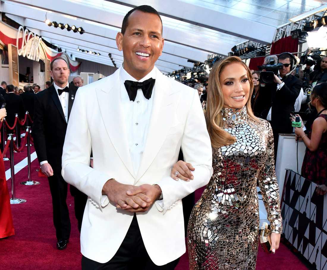 Alex Rodriguez tillsammans med Jennifer Lopez.