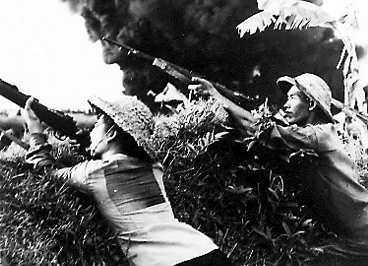 Nordvietnamesiska soldater under Vietnamkriget.