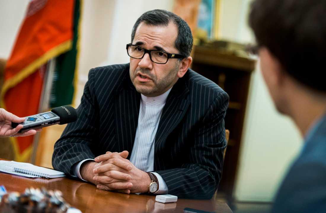 Irans FN-ambassadör Majid Takht Ravanchi.