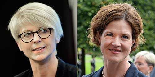 Elisabeth Svantesson (M) och Anna Kinberg Batra (M).