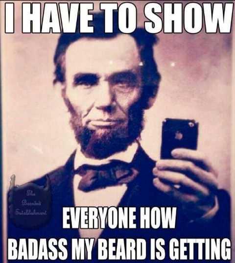 Lincolnskägget hyllas  Nätet är fullt av skäggälskare som hyllar Abraham Lincolns skägg