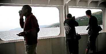 Färjorna mellan öarna tar oftast inte mer än 30 minuter.