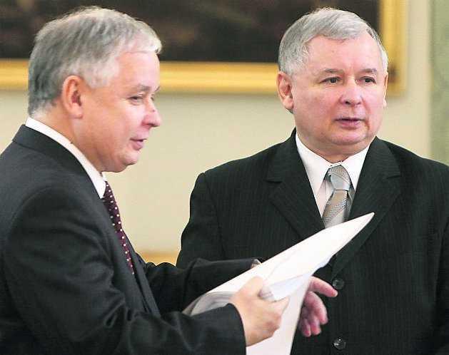 Bröderna Lech och Jaroslaw Kaczynski styrde under en tid Polen tillsammans.