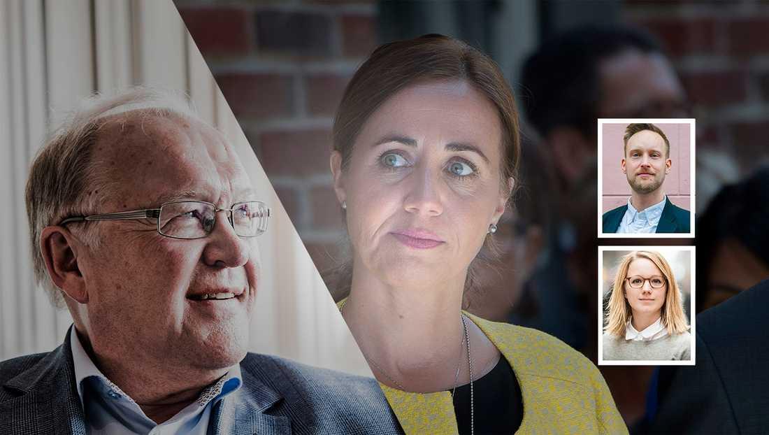Göran Persson och Filippa Reinfeldt är två exempel på ledande politiker som gått över till lobbyindustrin, skriver debattörerna.