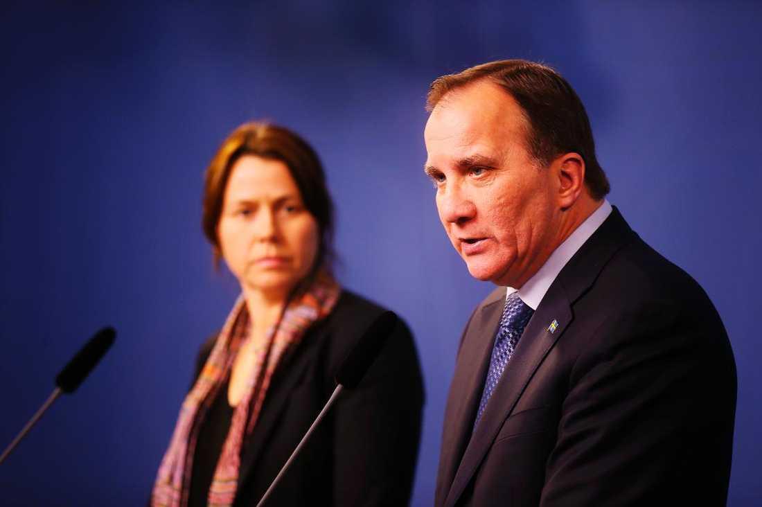 Åsa Romson och Stefan Löfven.