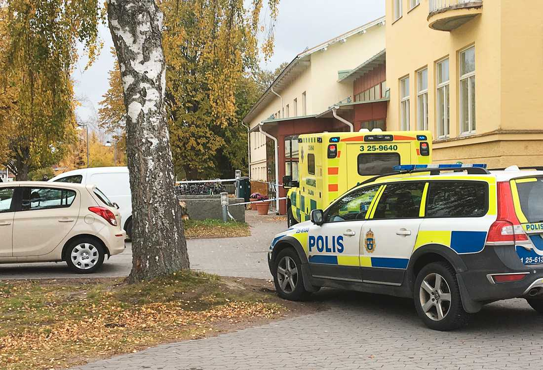 Polisbil i Leksand