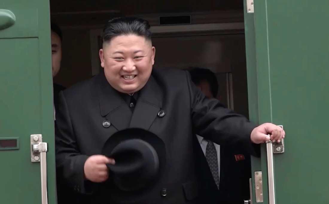 Kim Jong-un i Ryssland i april.