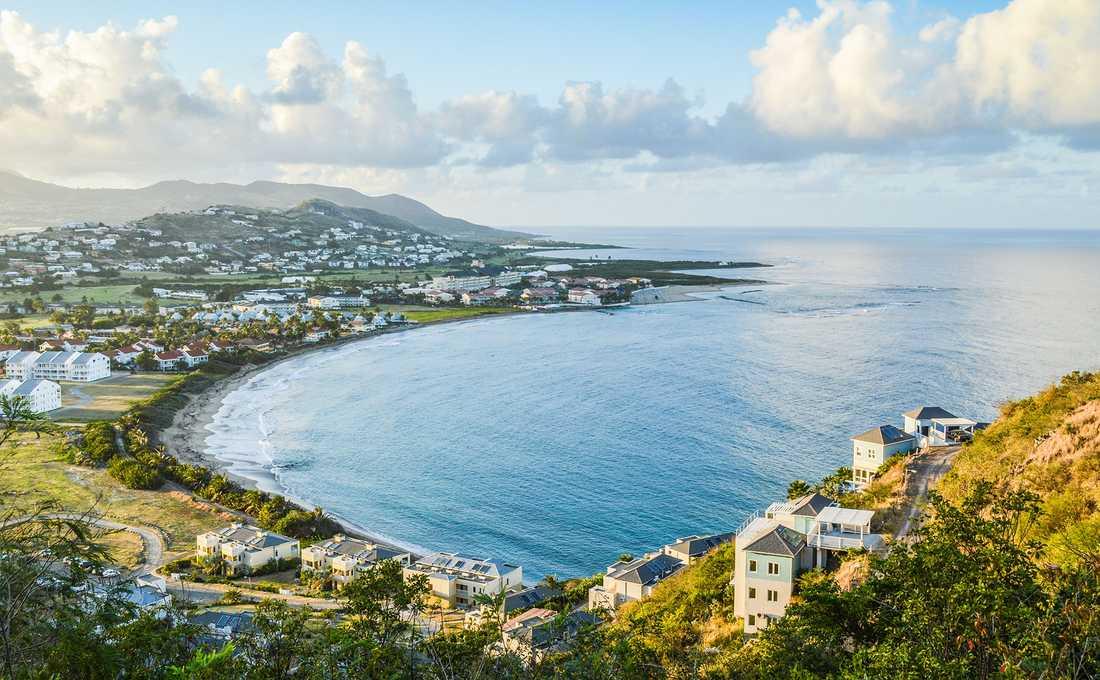 Ön St Kitts i Karibien.