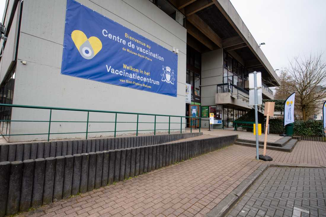 Vaccinationscenter i Bryssel.