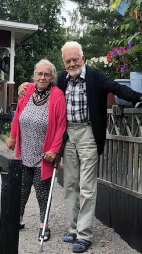 Sista bilden på Margaretha och Ulf tillsammans.
