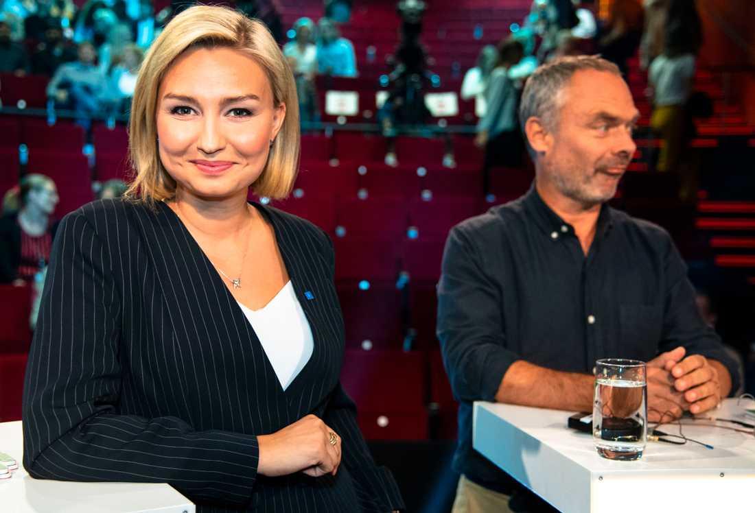 Ebba Busch Thor och Jan Björklund Aftonbladets partiledardebatt.