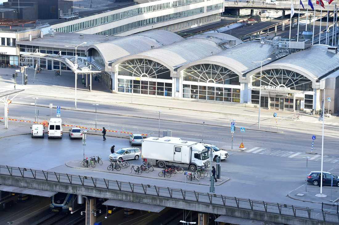 Centralstationen utryms