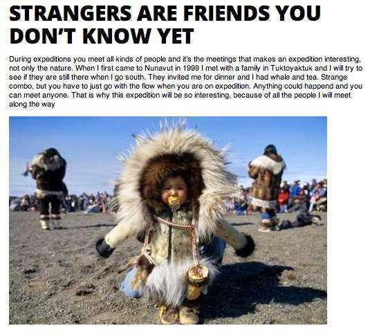 Bluffbild Johan Ernst Nilson träffade inuiter i Kanada, påstod han...