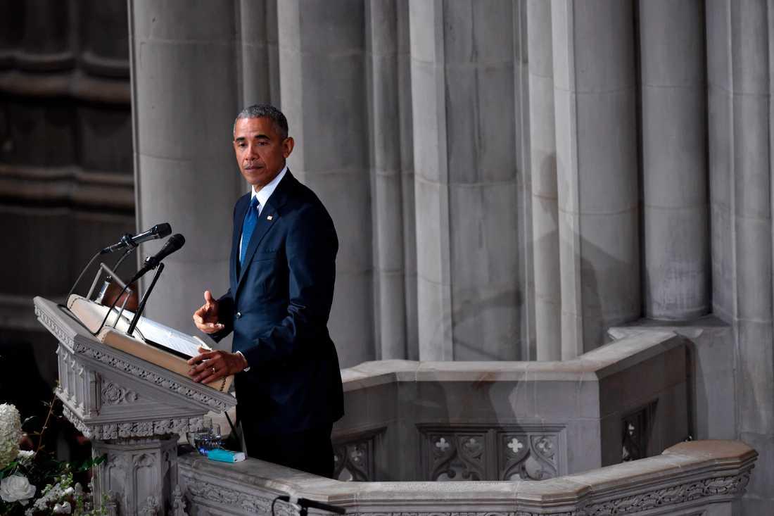 Barack Obama talar.