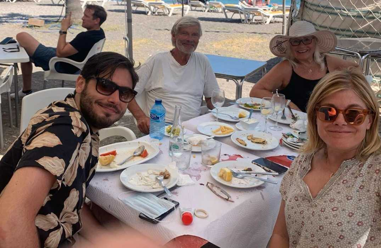 Familjen Wahlgren Ingrosso har återförenats i Nerja.