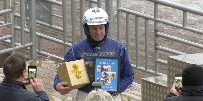 Jorma Kontio tog seger 11 000 på Örebrotravet under torsdagen.