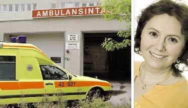 """13 FÖRDES TILL SJUKHUS Efter rökförgiftningen fördes 13 av deltagarna i """"Riket"""" till Västerås centrallasarett. Marielle Blid Barret var en av de svårast drabbade och var i natt på sjukhus."""