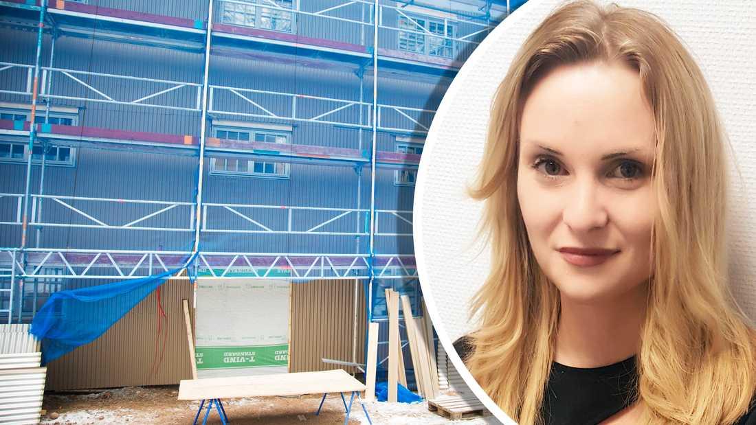 Sara Mentzer, marknadsansvarig på Sh bygg.