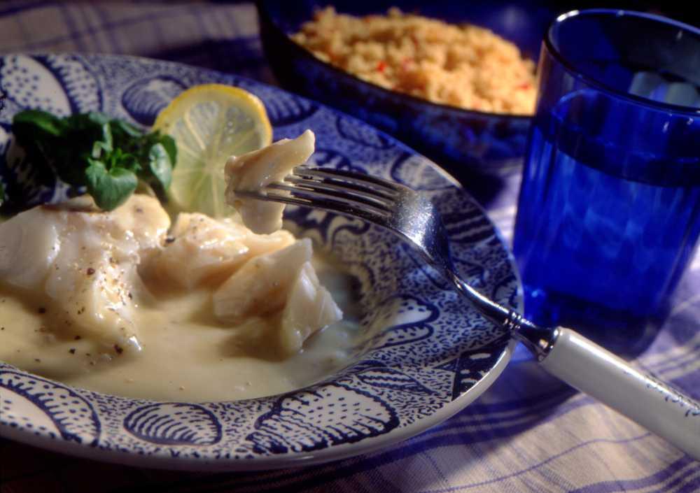 Sandefjordssås är riktigt gott till fisk.