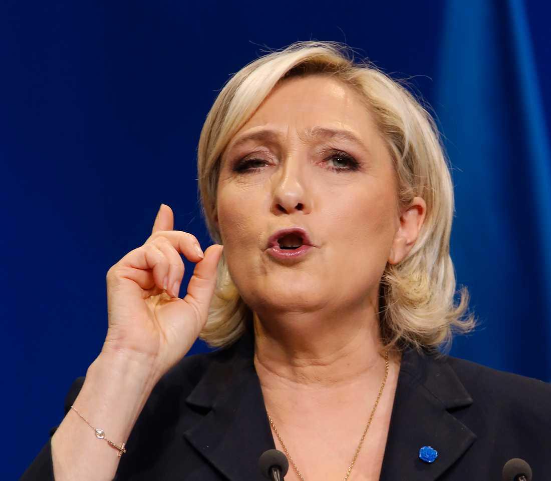 Högerextrema Marine Le Pen.