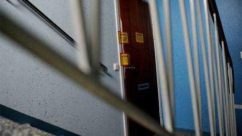 Lägenheten där kvinnan hittades mördad