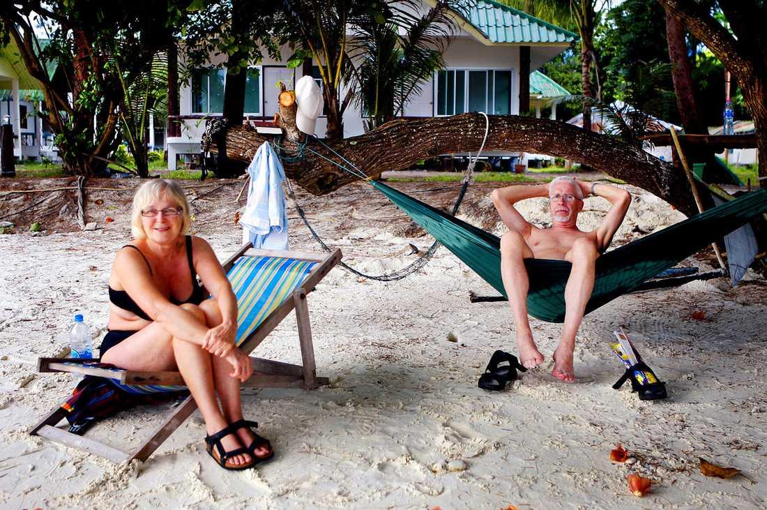 """Anita och Bengt Bolinder har hittat en ny ö de vill åka till, men de berättar inte vilken. """"Det är en hemlighet jag inte tänker avslöja"""", säger Anita."""
