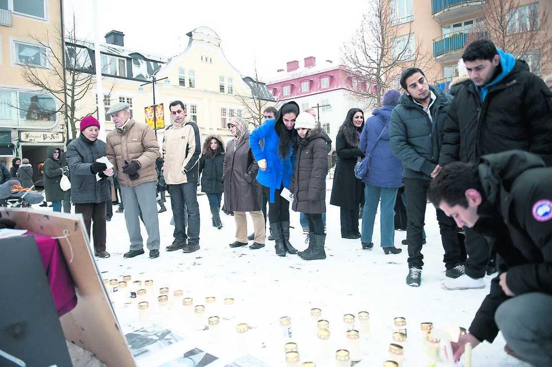 I går hölls en manifestation på stortorget i Katrineholm.