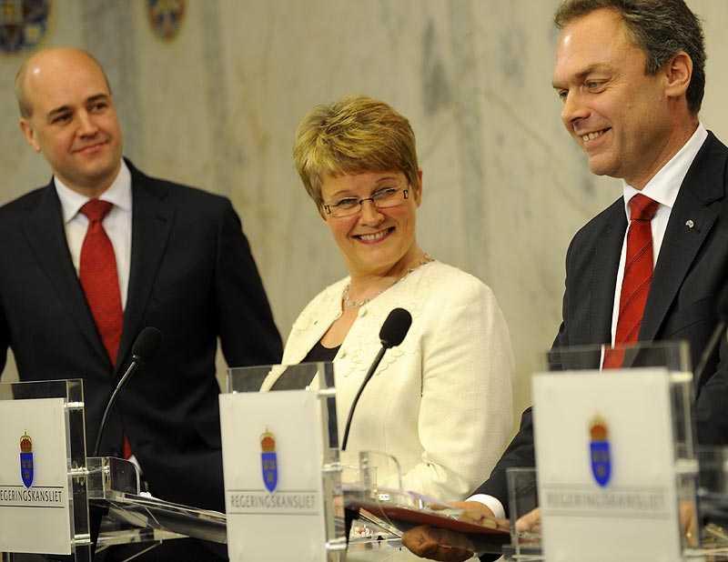 ÖVERENS. Fredrik Reinfeldt och Jan Björklund presenterade i grår sin energi- och klimatöverenskommelse.