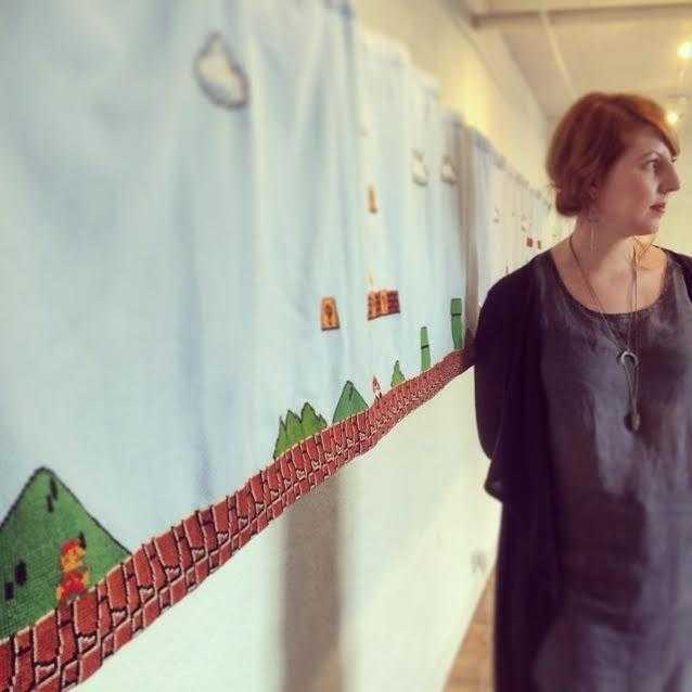 Textilkonstnären Elsa Olsson