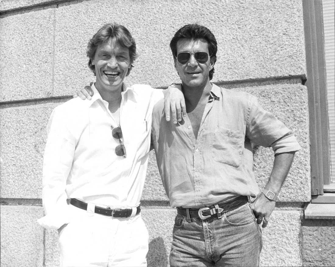 Johannes Brost med Kjell Bergqvist år 1989